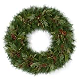 AUF001 Timbercove Wreath with Pine Cones/Cedar/Juniper and Bay Leaves Christmas by Autograph 36 Inches