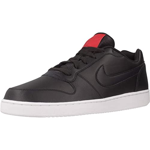 Nike Men s Black EBERNON Low Leather Sneakers (AO1775-001) - 11 UK India  (45 EU) (12 US  Buy Online at Low Prices in India - Amazon.in 50b3376d94