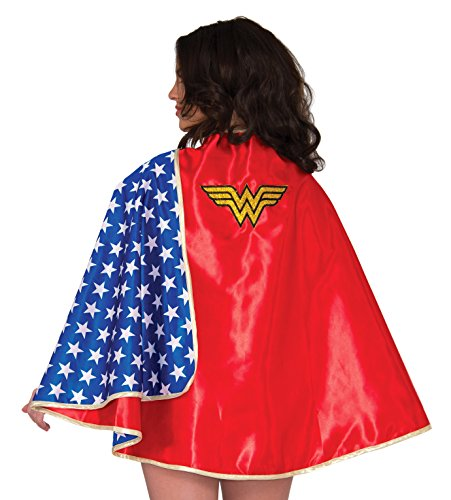 Rubie's Women's Dc Comics Wonder Woman Deluxe 30-inch Cape, Multi, One Size