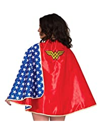 Rubies Costume Women's DC Comics Wonder Woman Deluxe 30-Inch Cape