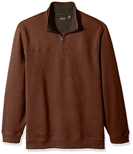 Arrow 1851 Men's Saranac Long Sleeve 1/4 Zip Sueded Fleece Pullover, Beige Arabian Spice Heather, Small ()