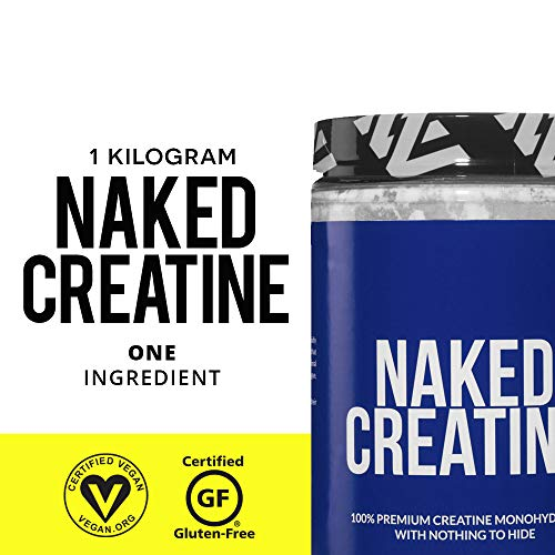 Creatine Benefits Weight Loss. Pure Creatine Monohydrate - 200 Servings - 1,000 Grams, 2.2lb Bulk, Non-GMO, Gluten Free, Soy Free. Aid Strength Gains, No Artificial Ingredients - NAKED CREATINE