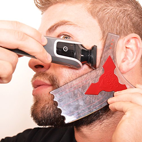 The-BEARD-NINJA-Beard-Shaping-Tool-Template-Beard-shaper-guide-for-line-up-edging-TRANSPARENT-styling-stencil-ANTI-SLIP-GRIP-CurveStepStraight-Cut-Goatee-Perfect-Neck-Line