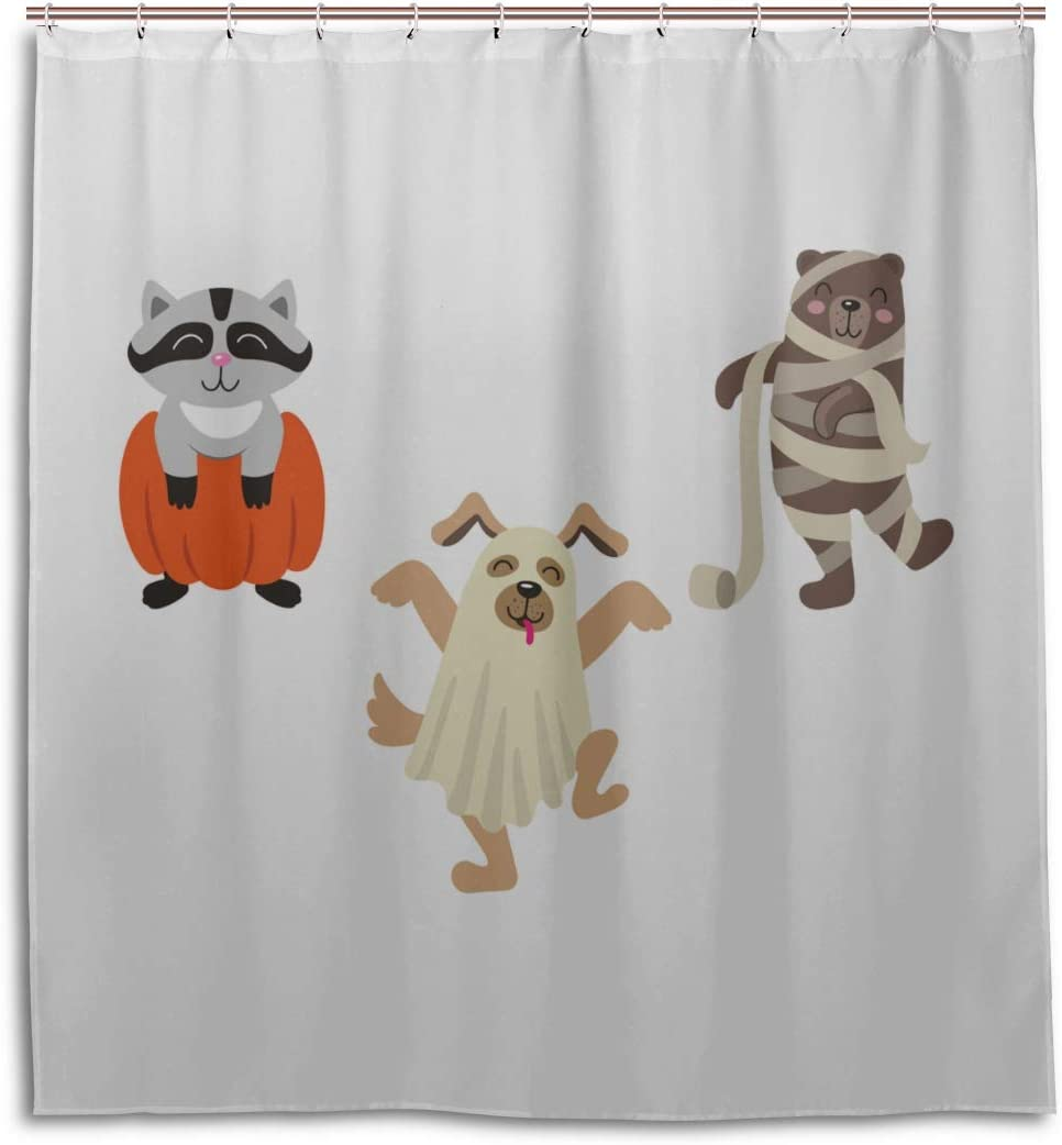 Amazon Com Engree Men Bathroom Shower Curtain Mummy Wrapped Funny Dog Cartoon Bathroom Farmhouse Curtains 66 X 72 Inch Machine Washable Waterproof Bathroom Curtains Kitchen Dining Fan art of an adorable show i did for my partner since their birthday is tomorrow. amazon com