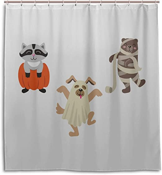 Amazon Com Engree Men Bathroom Shower Curtain Mummy Wrapped Funny Dog Cartoon Bathroom Farmhouse Curtains 66 X 72 Inch Machine Washable Waterproof Bathroom Curtains Kitchen Dining cute & funny fall 2018 like miira no kaikata? amazon com