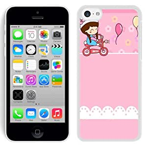 New Beautiful Custom Designed Cover Case For iPhone 5C With Lovely Girl (2) Phone Case