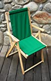 Highlands Folding Deck Chair in Forest