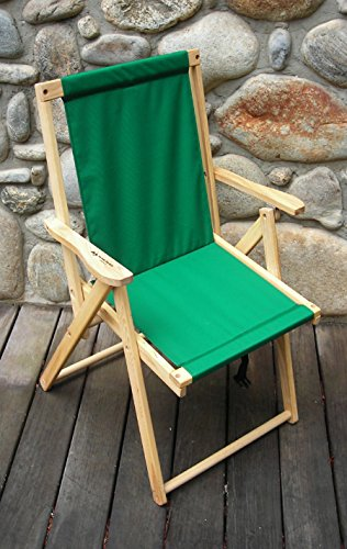 Blue Ridge Trading Highlands Folding Deck Chair in Forest