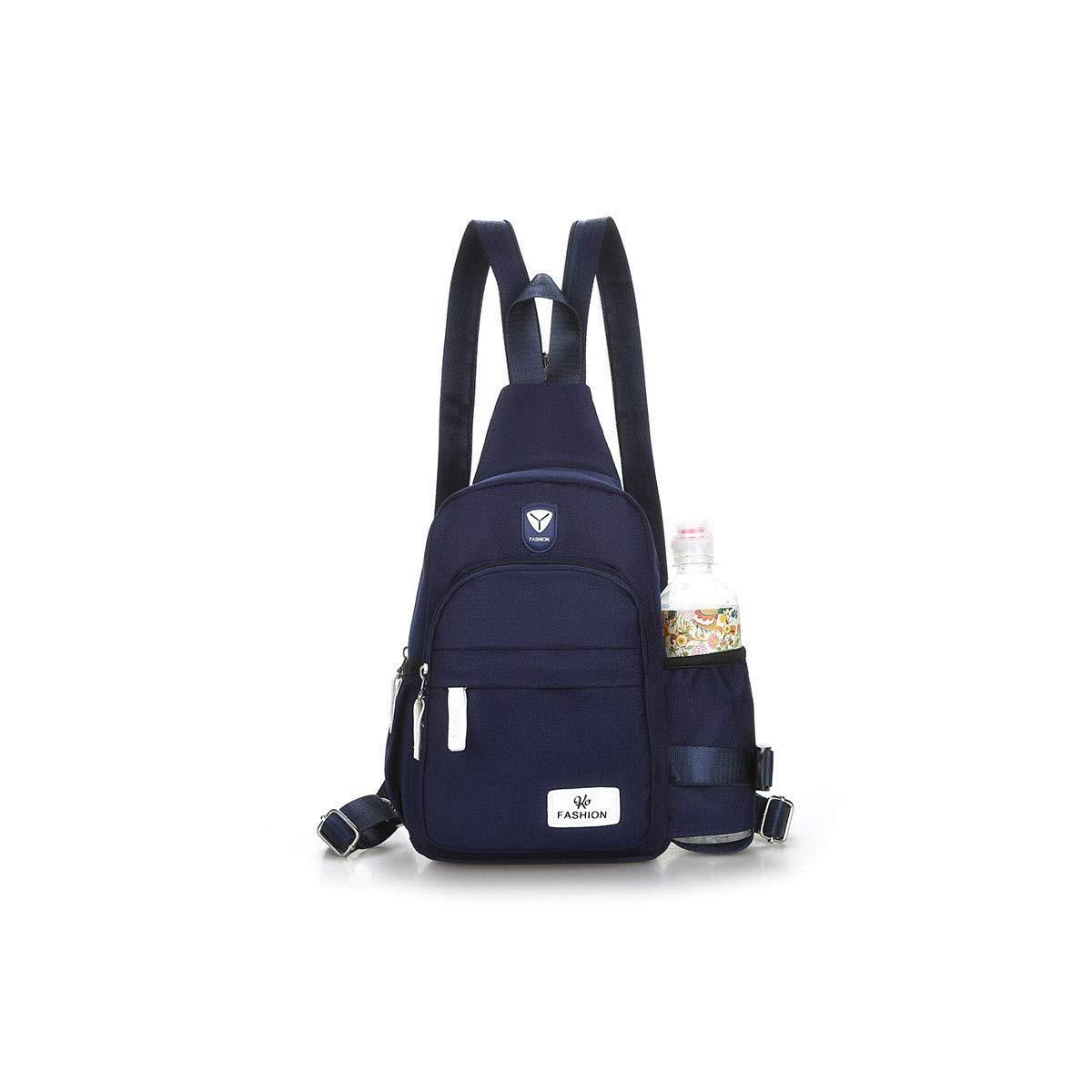 バックパック ナップサック リュックサック 歩兵パック フィールドパック ファッション オックスフォード生地 カジュアル 旅行 クロスボディ バックパック ミニバックパック  ネイビーブルー B07LBSBSH6