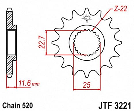 JT Sprockets JTF513.17 17T Steel Front Sprocket