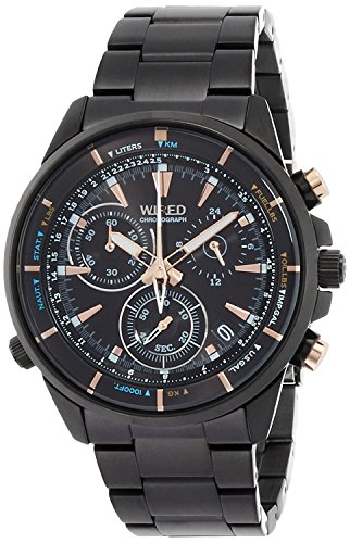 "WIRED watch WIRED THE BLUE ""WATER BLUE"" CHRONOGRAPH MODEL AGAW440 Men"