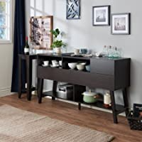 Furniture of America Glenwood Modern Multi-Storage Dining Buffet, Cappuccino