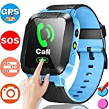 Cheap Smart Watch Phone for Kids with SIM Card Slot GPS Smartwatch Call Anti-Lost SOS Locator Camera 1.44″Touch Screen Sport Outdoor Fitness Tracker Pedometer Bracelet Wrist Watch Boys Girls Birthday Gifts