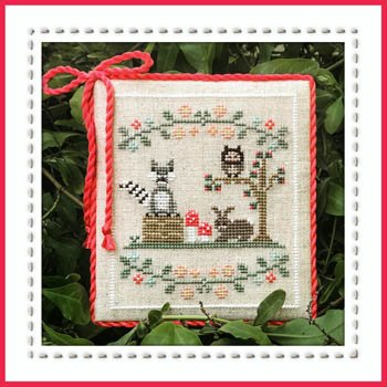 Welcome to The Forest 3 - Forest Raccoon and Friends Cross Stitch Chart