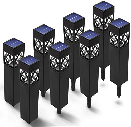 Home Zone Security Decorative Solar Pathway Lights – Landscape and Garden Outdoor Solar Path Lights, 8-Pack