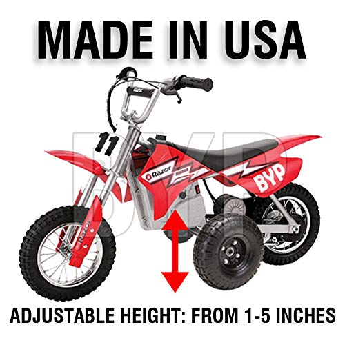 BYP_MFG_INC Adjustable Height Razor MX350 MX400 Kids Youth Training Wheels - Dirt Wheels Bike Training