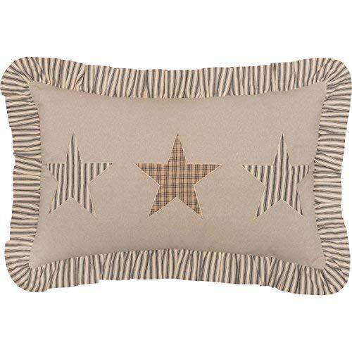 VHC Brands Farmhouse Decor Sawyer Mill Star Pillow Tan [並行輸入品] B07R83C6DM
