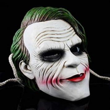 Mascara De Halloween Resina Terror Horror Payaso Cara De Pelo Largo: Amazon.es: Deportes y aire libre