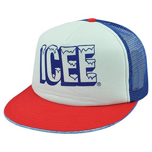 icee-slushy-beverage-cold-drink-frozen-trucker-mesh-snapback-flat-bill-hat-cap