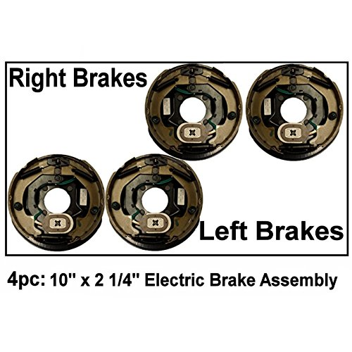 4pc Electric Trailer Brake 10'' x 2.25'' Assembly Right & Left SIde 3500 lb axles by Auto Express