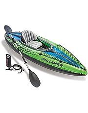 Intex uppblåsbar uppblåsbar kajak båt challenger K1 ftalater gratis inkl. 84 paddlar och luftpump, 274 x 76 x 33 cm, 68305NP