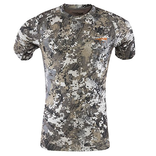 Sitka Core Light Weight Crew Short Sleeve, Optifade Elevated II, X Large by SITKA