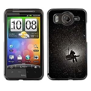 For HTC G10,S-type® Mountain Moon Lift Snow Winter - Arte & diseño plástico duro Fundas Cover Cubre Hard Case Cover