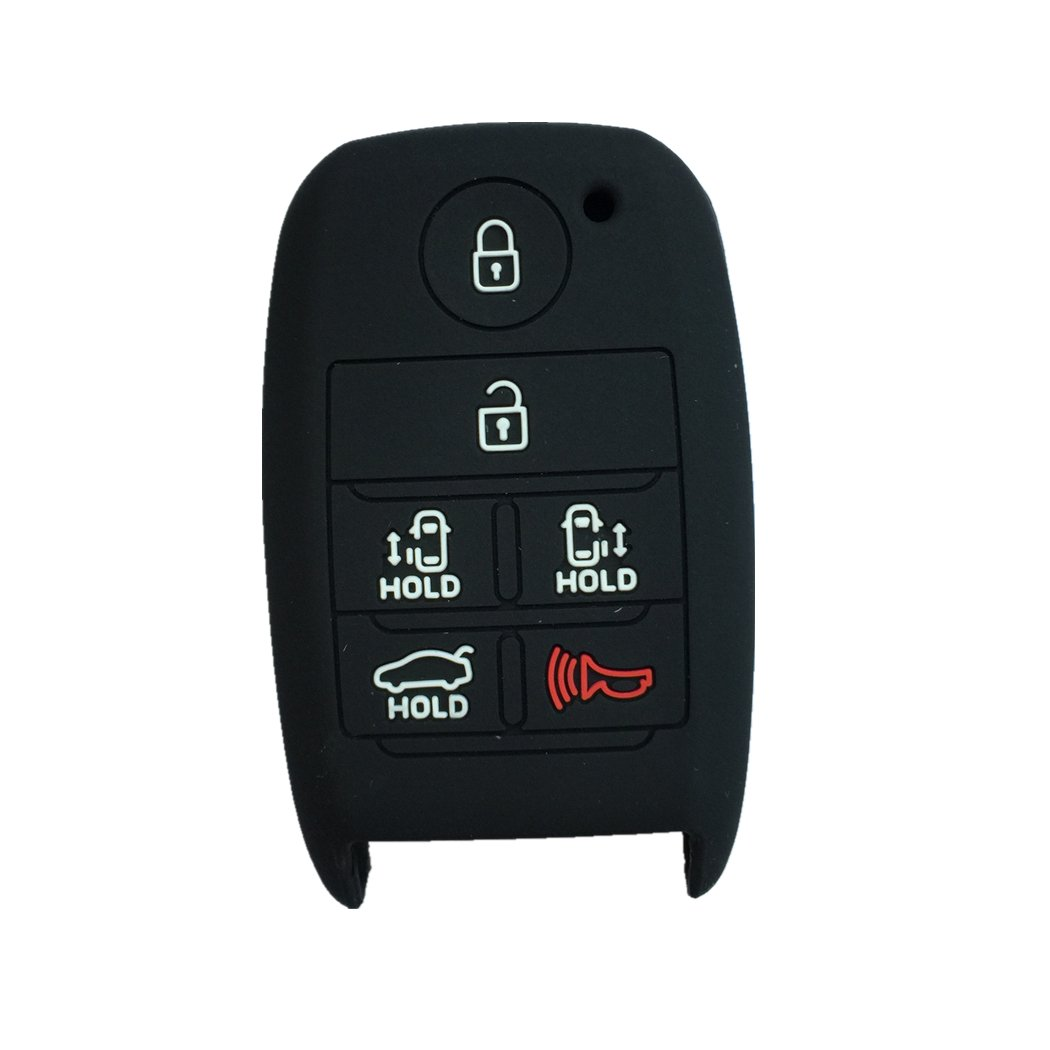 SEGADEN Silicone Cover Protector Case Skin Jacket fit for KIA Sedona 6 Button Smart Remote Key Fob CV4151 White