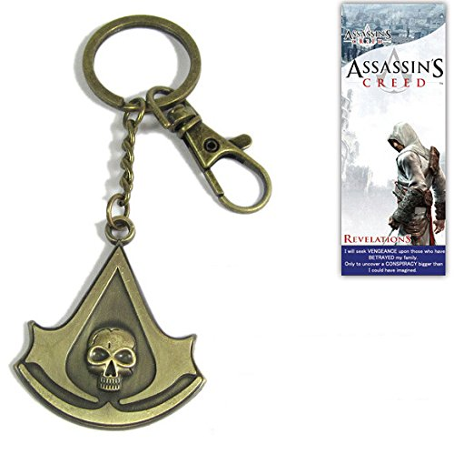 Assassins Creed 4 Iv Black Flag Metal Keychain Keyring Cosplay Costume- ()