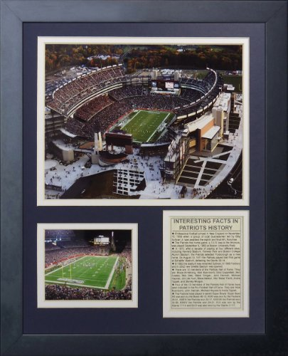 Legends Never Die New England Patriots Stadium Gillette Stadium Framed Photo Collage, 11 by 14-Inch