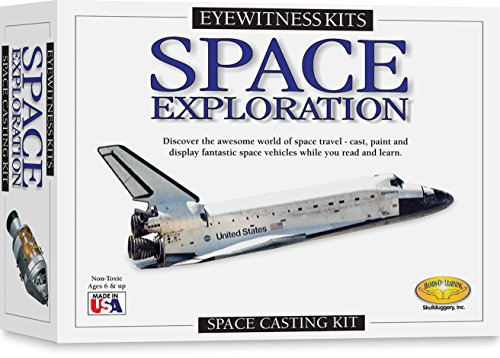 Skullduggery Eyewitness Kits Perfect Cast Space Exploration Cast, Paint, Display and Learn Craft Kit