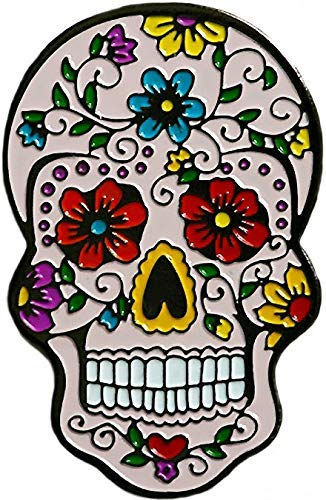 Be The Ball 4U Flower Passion Dia De Los Muertos Cool Skull and Mask Designs Dawn of the Dead Golf Ball Marker and Matching Red Rose Hat Clip