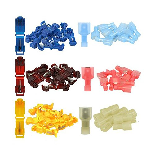 T-connector Kit (Foxnovo Solderless Connectors and T-Tap Wire Connector Assortment)