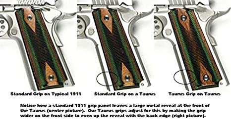 Amazon.com: CFP Grips – Taurus pt1911 – Slim – nogal – GCT ...