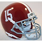 Alabama Crimson Tide Schutt #15 Authentic Mini Helmet