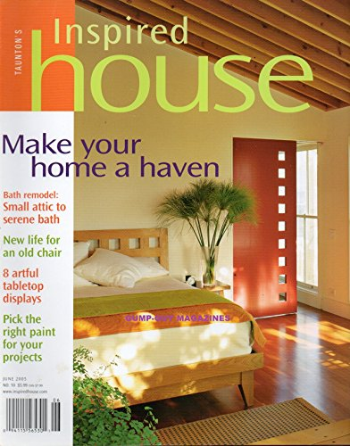Taunton's Inspired House June 2005 Magazine PICK THE RIGHT PAINT FOR YOUR PROJECTS 8 Artful Tabletop Displays MAKE YOUR HOME A HAVEN