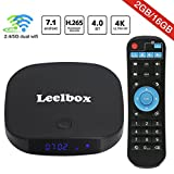 [2018 Edition] Leelbox Q2 Pro Android 7.1 TV Box 2GB+16GB Dual-WiFi 2.4GHz/5GHz with BT 4.0 Supporting 4K (60Hz) Full HD/3D/H.265 Smart TV Box