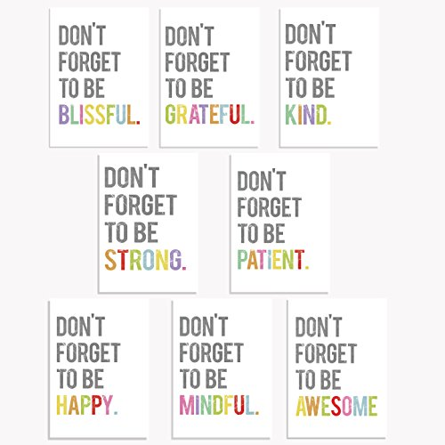 Don't Forget Mini Collection 5x7 Wall Art Prints, Typography, Kid's Wall Art Print, Kid's Room Decor, Gender Neutral, Motivational Word Art by Children Inspire Design