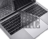 CaseBuy Premium Ultra Thin Keyboard Cover Compatible New MacBook Air 13-inch A1932 with Touch ID Retina Display Soft-Touch TPU Keyboard Protective Skin, Black