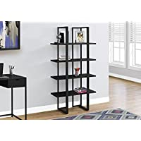 Monarch I 7236 Bookcase-60 H Metal, Black