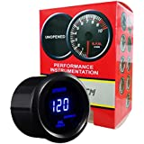 HOTSYSTEM Electronic Universal OIL Pressure Press Gauge Meter 52mm 0-120 PSI for Car Vehicle