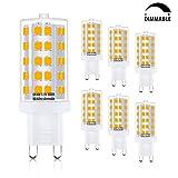led bi pin bulbs - G9 Led Bulb, 6W Dimmable G9 Led Light Bulb, Bi Pin Base, Warm White (3000k), 60W Equivalent, 6 Pack