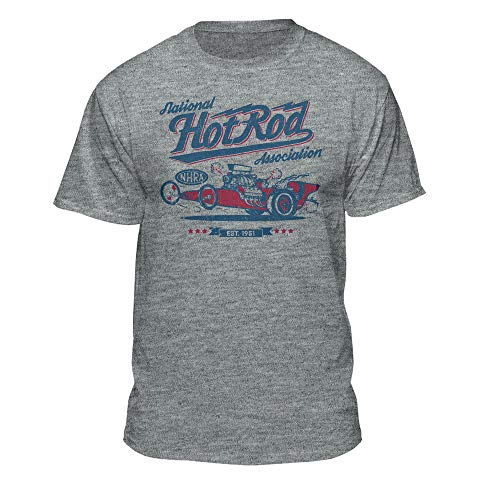 Association Dark T-shirt - NHRA National Hot Rod Association Red White & Blue Drag Racing Men's Vintage T-Shirt (X-Large)