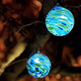 Aurora Glow Solar String Lights (Sea Glass)