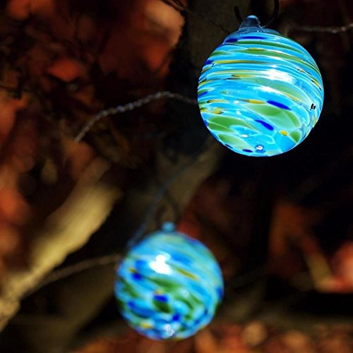 Aurora Glow Solar String Lights (Sea Glass) by Allsop