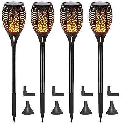 Otdair Solar Lights Outdoor Waterproof Dancing Flickering Flame Torch Lights