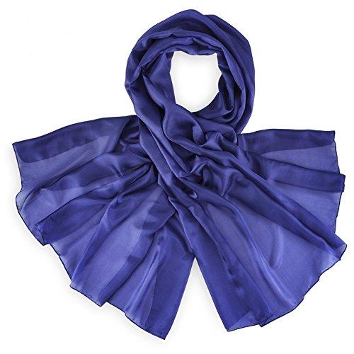 Etole soie bleu nuit