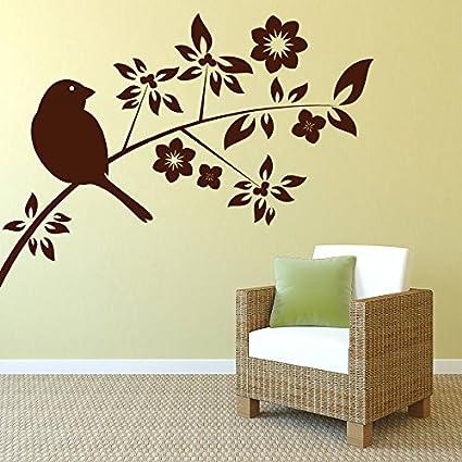 418126b3bf2 Buy DECOR Kafe Home Decor Sparrow on a Branch Wall Sticker