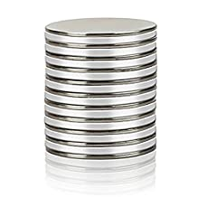 "6 Piece N52 1.26""D x 0.06""H, Most Powerful Disc Neodymium Magnets 50% Stronger Than N35 Magnets"