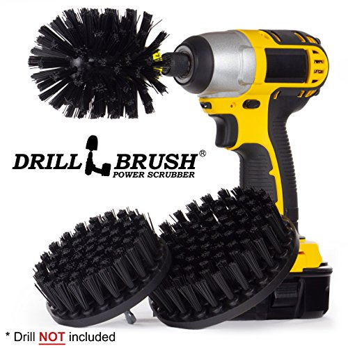Drill Powered Attachment Safe Grill Brush Kit - Clean BBQ Grills - Wood Stoves - Outdoor Fireplace by Drillbrush by Drillbrush